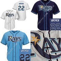 bay boy - Kids Tampa Bay Rays Jersey Chris Archer Jersey Youth Authentic Stitched Cool Base Baseball High Quality Jerseys size S XL