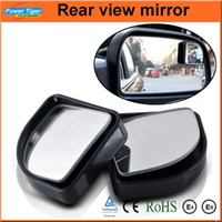 Wholesale 2pcs Car Accessories Small Round Mirror Car Rearview Mirror Blind Spot Wide angle Lens degree Rotation Adjustable