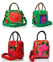Wholesale YX color women National Wind handbags Messenger embroidered bag cm