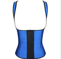 Wholesale New special latex corset clothing thick rubber body sculpting girdle waist training corsets belt clip thin waist raise chest rubber clothes
