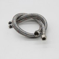 Wholesale 60cm Stainless Steel Hot and Cold Water hoses for North American MG