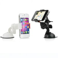 Wholesale Universal Car phone accessories Windshield Mount Stand Holder For iPhone s s Plus Samsung
