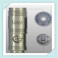 Cheap Gaia mod clone full mechanical mod stainless steel ss magnet button sliver plated e cig VS atty Stingray Panzer ecig for Rdarba atomizer DHL
