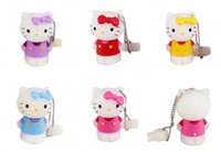 Wholesale 10pcs real capacity hello kitty cat U disk GB GB GB GB GB GB GB USB flash drvie Key Memory Stick usb Flash Pen Drive USB