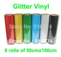 Wholesale Fast DISCOUNT pieces of cmx100cm Glitter vinyl for heat transfer heat press cutting plotter