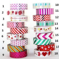 Wholesale NEW X m Gold Foil Gilded Tape for Christmas Print DIY Deco Masking Japanese Washi Tape Paper