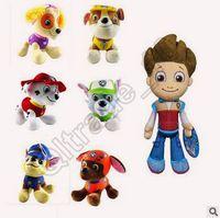 Wholesale 150pcs CCA3507 High Quality Styles cm Paw Dog Plush Toys Children Kids Plush Dolls Poppy Dog Stuffed Toy Fireman Sam Patrol Plush Toys