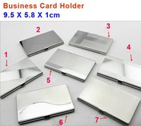 Wholesale Stainless Steel Metal Business Card Files Holders customized BOX LOL020