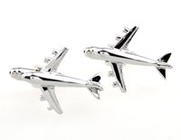 airbus sales - By DHL Sale Real Tie Clip Lepton Fashion Airbus Styling Cufflinks Men s Plane Cufflink For Men Gifts Cufflink