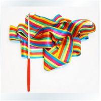 alternative performance - fashion ribbon activity toys m cm Gymnastic coloured ribbon dance performance peoperties multi color alternative children toys