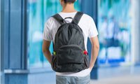 Wholesale The portable Zipper Soild Nylon Daily Traveling Backpacks Shoulder bags Folding bag
