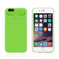 Cheap 50 PCS  Plastic Case With ID Credit Card Holder Hard Case Back Cover For iphone 4S 5S 6 6 plus
