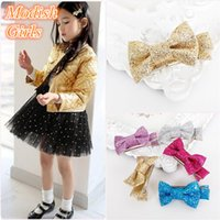 Cheap Barrettes glitter hair clips Best artificial leather Solid shiny hairpins