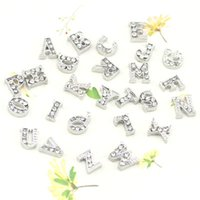 Wholesale mixed sliver color initial letter floating charms letter charm fit your origami owl locket F199