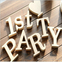 Wholesale Wooden Letters Home Decoration Wood Wooden Letters Alphabet For Bridal Wedding Party Home Decoration x1 cm Creative diy house decoration