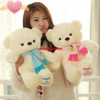 ai blue - Genuine Hug Teddy Bear Urso de pelucia Plush Toys cm Children Ai Taidi Scarf Bear Teddy Bear Gift Plush Dolls Brinquedos