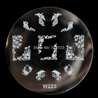 bamboo stamps - W Series Reusable creative DIY nail art stamp stamping image plate template tool Kitty Bamboo W