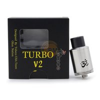 Cheap Authentic Tobeco Turbo V2 RDA Rebuildable Dripping Atomizer DIY Vaporizer Electronic Cigarette Adjustable Airflow For 510 Mods DHL Free