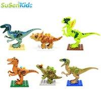 Wholesale 6pcs Jurassic Park World Dinosaur Mini Figure movie Kid Baby Toy Building Blocks Sets Model Toys Minifigures Brick