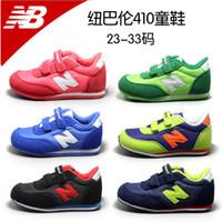 Wholesale The latest high quality children s shoes NB410 flexible cotton flexible non slip comfortable running shoes color code size22