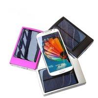 Wholesale Dual USB mAh solar charger power bank universal adaptation for iPhone iPad SAMSUNG HTC Nokia phone Tablet Camera GPS