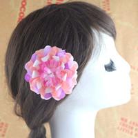 beach fabric - Hawaiian Bohemia Beach Fabric Flowers Baby Hair Accessories Hair Flowers Girl Hair Clips Childrens Accessories Korean Barrettes C8445