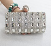 Wholesale Factory New Style Women s Bag Evening Clutch Bag Dinner Wedding Purse Crystal Rhinestone Handbag