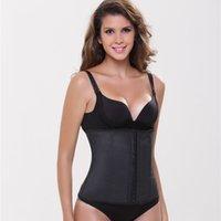 best waist cincher corsets - S M L XL XXL Slimming Steel Boned Workband Best Seller Latex Cincher Waist Trainer Solid Black Girdle New Corset Faja