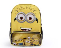 Wholesale Retail New Arrival Quality backpacks Despicable Me Minion Backpack Child School Bags Kid Boy and Girl Cartoon Bag