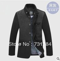 big collar pea coat - Fall New Men s Winter Warm Pea Coats Casual Woolen Worsted Jackets Mens Big Size Jacket High Quality Coat Men Cashmere Trench