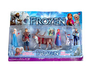 Wholesale Frozen Classic Toys Frozen Action Figure Elsa Anna Olaf Kristoff Figure Cartoon Play Set For Kid Toy Blister Packing For Christmas Sale