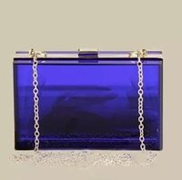 Wholesale TT596 clutch female Candy Color Women Bag Resin Summer Handbags transparent bags jelly crystal bags Dssigual