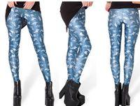 Cheap 5PCS lot Women Sexy 3D Fishes Printing Tight Leggings Women Pantyhose Women Graffiti Leggings 3D Leggings Women Pencil feet pants