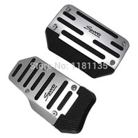 Wholesale Universal Set Of Silver Aluminum Non Slip Pedals Sports Automatic Cover