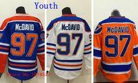 alternate picking - Factory Outlet Youth Connor McDavid Jersey Alternate Edmonton McDavid Kids Draft Pick Blue White Orange Embroidery Hockey Jerseys