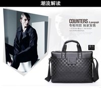 Wholesale 2015 new leather men s bags leisure men s singles shoulder inclined shoulder bag handbag business briefcase man leather laptop bag