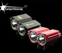 Wholesale Black red SolarStorm Lm x CREE XML U2 LED Bicycle bike Light HeadLight Headlamp Light