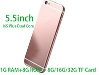 Wholesale 5 inch i6s Plus Dual Core I6s MTK6572 Android OS M G add G G G TF Card show fake G Lte G GB G cellphone A