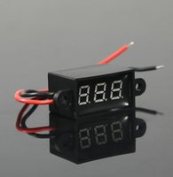 Wholesale Led Voltmeter quot DC V Mini Digital LED Voltmeter Volt Meter For Car Motor colors