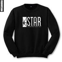 bape book - STAR S T A R labs black sweatshirt jumper the flash gotham city comic books superman tv series o neck hoody