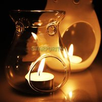 Wholesale Large Glass Hanging Candlestick Candle Holder Scented Oil Candlelight Dinner DIY