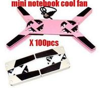 Wholesale 100pcs free ship dhl notebook cooler pad Mini Folding USB Fan Laptop Notebook Cooler Cooling fan