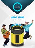 Wholesale 2016 Hot sales Bluetooth wireless audio metal speaker Bluetooth speaker music Smart Speaker With TF Card Mini mp3 player Subwoofers