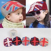 Geometric baby hats uk - Baby Kid Girls Boy Hat UK Flag Print Flat Visor Casquette Beret Cap