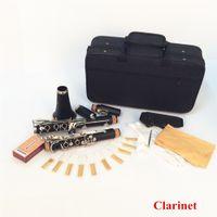 Wholesale 17 Key Bb Flat Soprano Clarinet Nickel Plating Exquisite Bakelite Clarinet Woodwind Instruments Musical Instruments