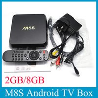 Wholesale M8S K H Rooted KODI Smart Android TV Box Amlogic S812 Quad Core A9 D Processor GB RAM GB OTH113