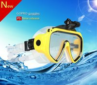 Wholesale New high quality Diving Glasses GoPro Hero SJ4000 SJ5000 SJ6000 sport camera Silicone Swimming Pool
