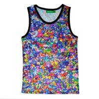 animal t shirts - 2016 Summer Fashion Women Men Vest Tops D Cartoon Print bodybuilding Tank Tops Men vest tee t shirt man sleeveless fitness vest