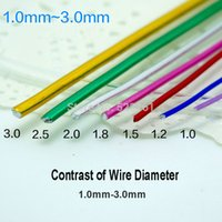 anodized aluminum wire - mm anodized aluminum craft wire color mixed rolls m shape wire for jewelry findings DIY decor making