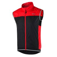 Wholesale ARSUXEO Men Women Windproof Sleeveless Cycling Jacket Outdoor Sports Clothing Bike Bicycle Vest Windbreaker New Arrival